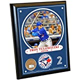 "MLB Toronto Blue Jays Troy Tulowitzki Plaque with Game Used Dirt from Rogers Centre, 8"" x 10"", Navy"