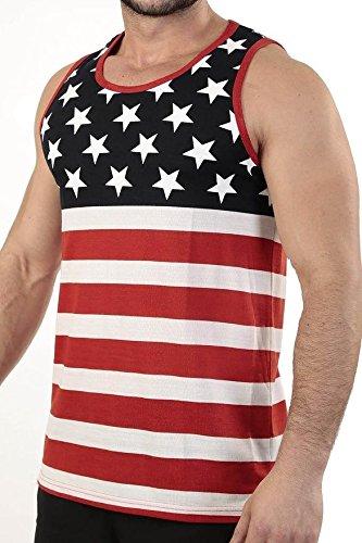 Patriotic American Flag Stripes And Stars Tank Top Shirt 358 XL