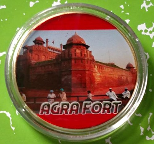 Agra Fort Colorized Challenge Art Coin