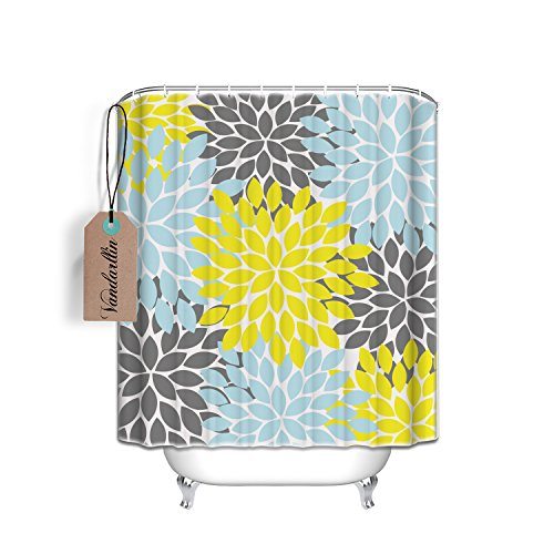 yellow and blue shower curtain - 4