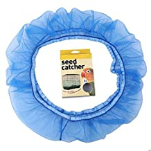 Large Nylon Mesh Seed Catcher Dustproof Bird Cage Cover Decoration