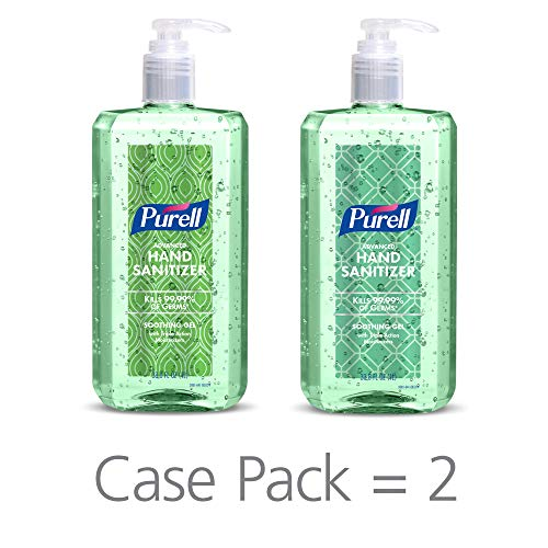- PURELL Advanced Hand Sanitizer Soothing Gel Metallic Design Series, Fresh scent, with Aloe and Vitamin E - 1 Liter pump bottle (Pack of 2) - 3081-02-ECDECO