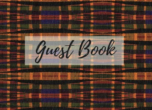 Search : Guest Book: (African Fabric (18), Event Guest Book, For Events, Anniversary, Retirement Party, Wedding, Birthday,101 pages - [Professional Binding]