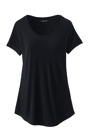 9428dfbb5ad313 Amazon.com: Lands' End Women's Jersey U-Neck T-Shirt: Clothing