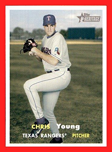 2006 Topps Heritage #293 Chris Young SP SHORTPRINT TEXAS RANGERS Pitcher