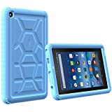Poetic TurtleSkin Fire 7 2015 Rugged Case Cover With Heavy Duty Protection Silicone and Sound-Amplification feature for Amazon Fire 7 5th Gen (Previous Generation - 5th) 2015 release Blue
