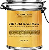 Majestic Pure Gold Facial Mask, Help Reduces the Appearances of Fine Lines and Wrinkles, Ancient Gold Face Mask Formula…