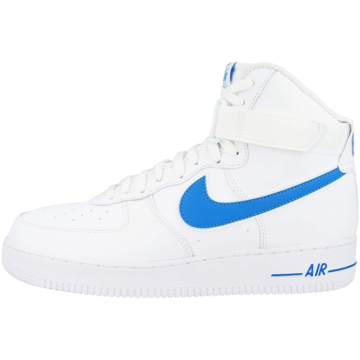 MultiCouleure (blanc blanc Photo bleu 102) 45.5 EU Nike Air Force 1 High '07 3, Chaussures de Basketball Homme