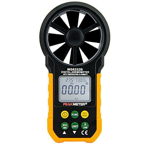 PEAKMETER MS6252B USB Digital Anemometer Air Flow Tester Meter by PEAKMETER