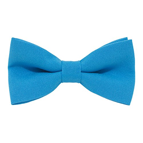 Classic Pre-Tied Bow Tie Formal Solid Tuxedo, by Bow Tie House (Large, Deep Blue) ()