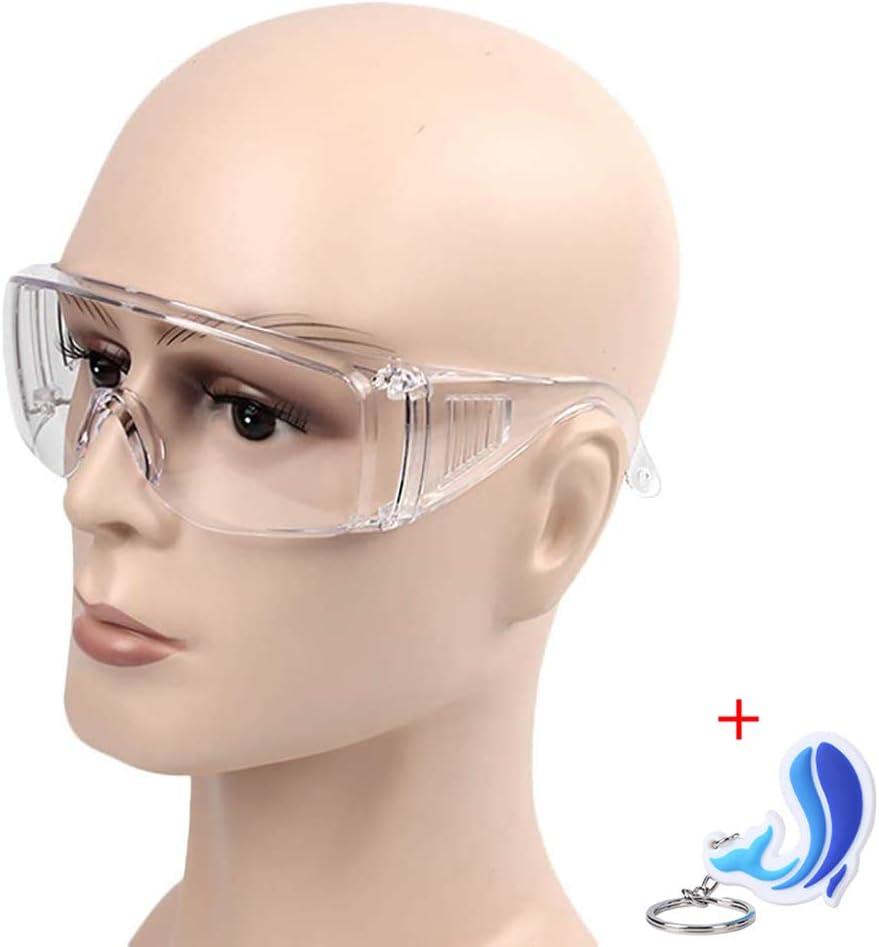 6 gafas transparentes antivirus, antivirus, antivirus, de alta calidad, gafas de seguridad, multifuncionales