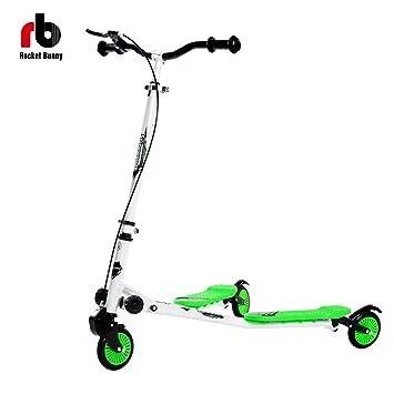 Niños ajustable 3 ruedas plegable homcom empuje patinete tipo grande para edad + 5