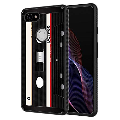 Google Pixel 2 XL Case, AIRWEE Slim Shockproof Silicone TPU Back Protective Cover Case for Google Pixel 2 XL (2017),Cassette Tapes ()