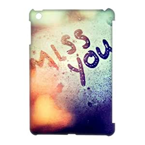 Miss You DIY 3D Cover Case for iPad Mini, DIY Miss You 3D Cell Phone Case