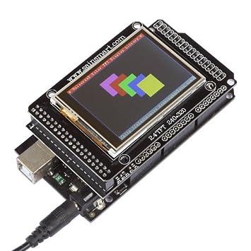SainSmart TFT LCD Screen Kit for Arduino Due UNO R3 Mega2560 R3 Raspberry  Pi (With MEGA Shield + MEGA2560 R3, 2 4 inches)
