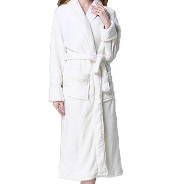 Bata para Dama Espesar Cálido Invierno Franela Mujeres Código Casuales Mujer Punto Largo Servicio De Servicio Pijamas Albornoz: Amazon.es: Ropa y accesorios