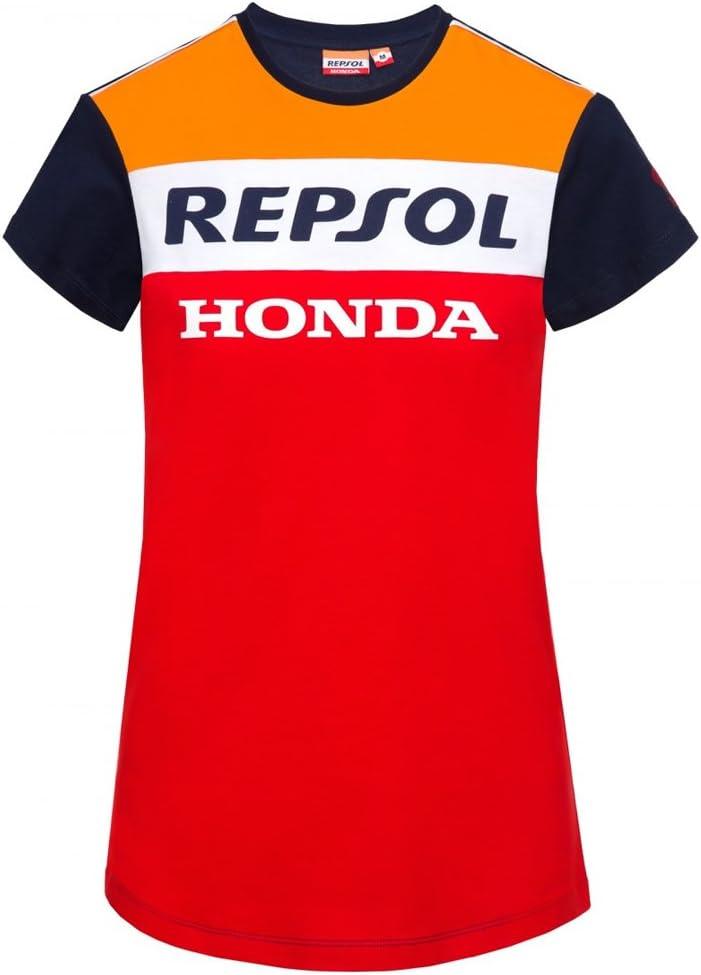 Pedrosa Femmes T-Shirt Officiel 2018 G/én/érique Honda Repsol Moto GP Team Marquez