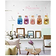 Light up in the Dark Cartoon Dream Bottle Wall Decals Removable Wall Decor Decorative Painting Supplies & Wall Treatments Stickers for Girls Kids Living Room Bedroom