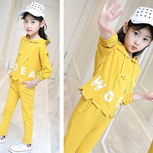 M&A Girls Fashion Tracksuit Clothing Set Hoodie + Pants Spring Autumn by M&A (Image #4)
