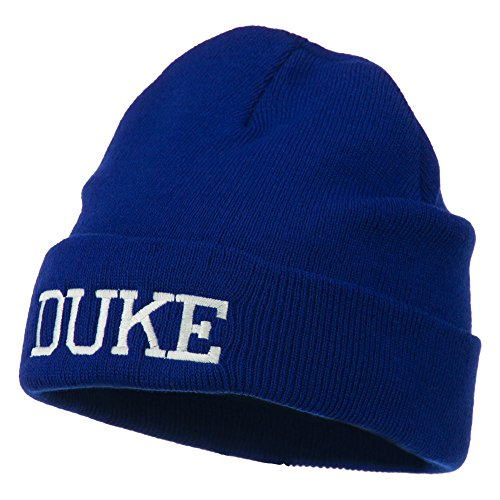 [Halloween Character Duke Embroidered Beanie - Royal OSFM] (Duke Halloween Costume)
