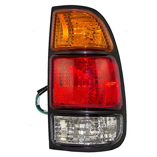 Passengers Taillight Tail Lamp with Amber-Red-Clear Lens Replacement for Toyota Pickup Truck Standard/Access Bed 815510C010 ()