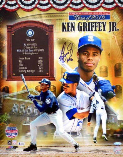 KEN GRIFFEY Jr. Seattle Mariners Autographed
