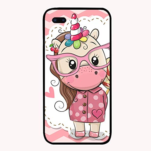 Cute Unicorn in Pink Eyeglasses Luxury Printed iPhone 7/8 Plus Cover Full Body Protect Compatible for iPhone 7/8 Plus Case 5.5