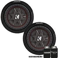 Kicker 43CWRT82 8 Dual Voice Coil 2 ohm slim line truck woofers Bundle