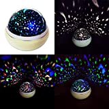 Starry Night Light,MOCERO Rotating Light Projector with 4 LED Bulbs 9 Modes for Children Kids in Bedroom