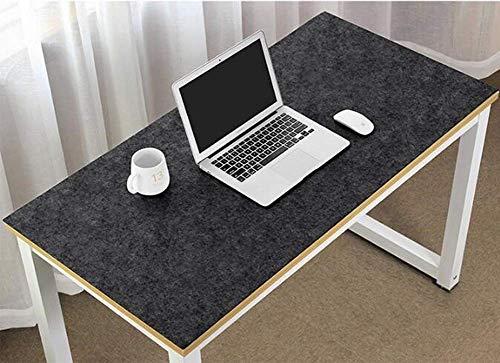 Moderno protector de escritorio antiestatico para ordenador, de fieltro, especialmente suave y comodo, gran alfombrilla para raton, base antideslizante gruesa, color gris oscuro 90x45cm