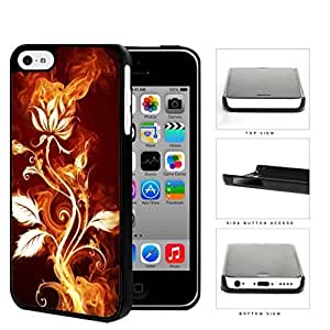 MMZ DIY PHONE CASEFlower Burning With Fire Flames And Smoke Hard Plastic Snap On Cell Phone Case Apple iphone 4/4s