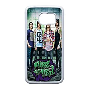 Good Quality Phone Case With HD Pierce The Veil Images On The Back , Perfectly Fit To Samsung Galaxy S6 Edge