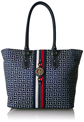 - Tommy Hilfiger Travel Tote Bag for Women Jaden, Navy/White