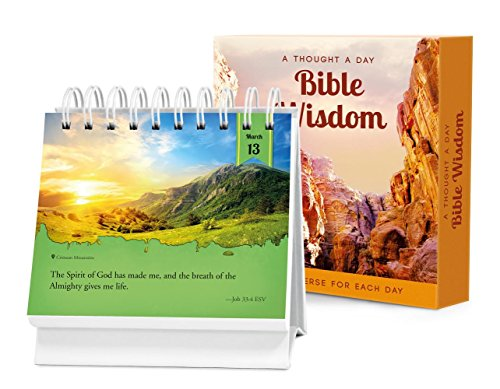 A Thought a Day―Bible Wisdom: A Daily Desktop Quotebook