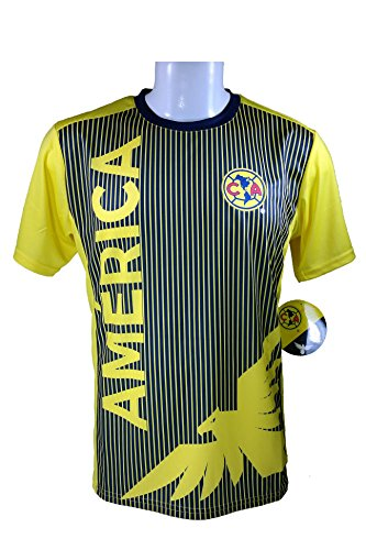 Football America Adult Football (Club America Soccer Official Adult Soccer Training Performance Poly Jersey -J002 X-Large)