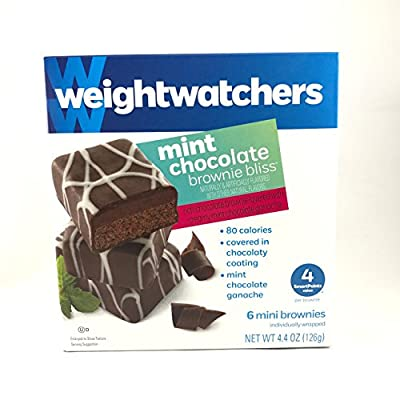 6 Pack Weight Watchers Mint Chocolate Brownies Bliss Healthy Snack