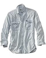 Orvis Men's Faded Denim Long-sleeved Shooting Shirt