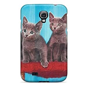 Faddish Phone Four Kittens Sitting Pretty Case For Galaxy S4 / Perfect Case Cover