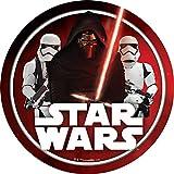 "Star Wars Edible Image Darth Vader Yoda Luke Skywalker Photo Sugar Frosting Icing Cake Topper Sheet Birthday Party - 8"" ROUND - 10766"