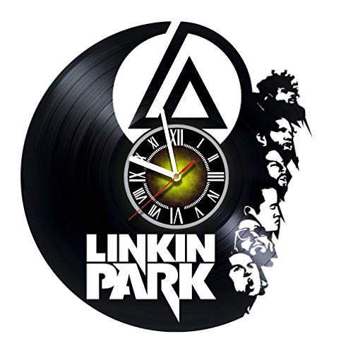 toffy workshop linkin park logo vinyl wall clock get unique gifts presents for