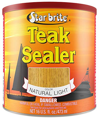Star brite Tropical Teak Oil Sealer - No Drip, Splatter-Free Formula (Brightener Light Color Coat)