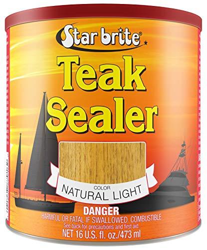 Star brite Teak Sealer - No Drip, Splatter-Free Formula - One Coat Coverage for All Fine Woods ()