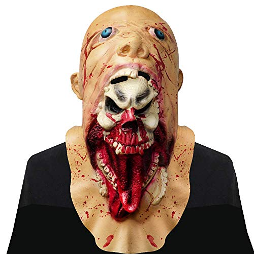 Monstleo Halloween Mask Scary Bleeding Zombie Horror face mask for Adults ()