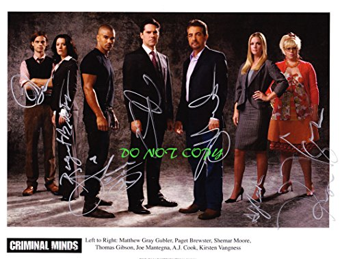 """Criminal Minds tv cast signed autographed 8x10"""" reprint photo by all 7 RP from Loa_Autographs"""