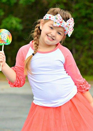 Amazon.com: The Hair Bow COMPANY Girls Ruffle Raglan ...