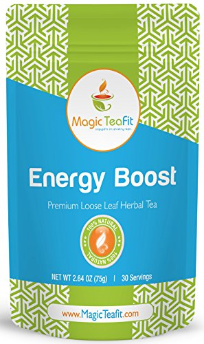 Energy Boost and Weight Loss Teatox Tea – TOP Quality, Tasty, All Natural, Organic Selections, Metabolism Boost, and Appetite Control Tea from Magic Teafit