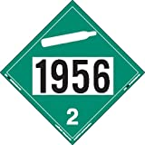 Labelmaster ZVR31956 UN 1956 Non-Flammable Gas Hazmat Placard, Removable Vinyl (Pack of 25)