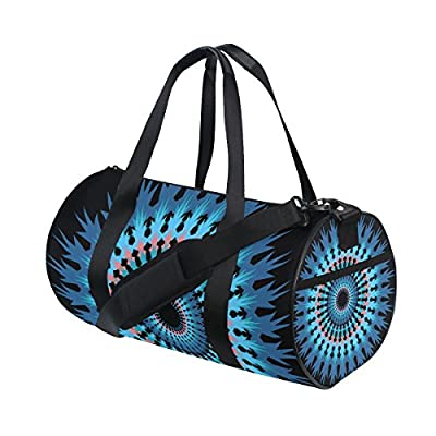 eeed12bd9c4d 70%OFF Canvas Sport Duffel Bag Mandala Blue gym bag Tote Bag with Shoe  Compartment