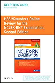 hesi saunders online review for the nclex rn examination 2 year