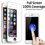 Full Coverage Tempered Glass Film Screen Protector for iPhone 7 (White)